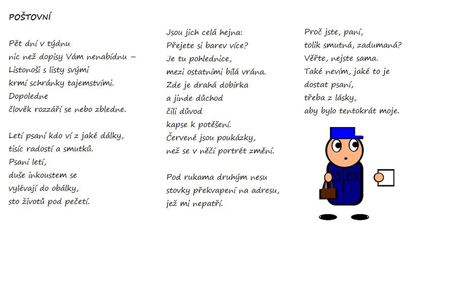 báseň poštovní