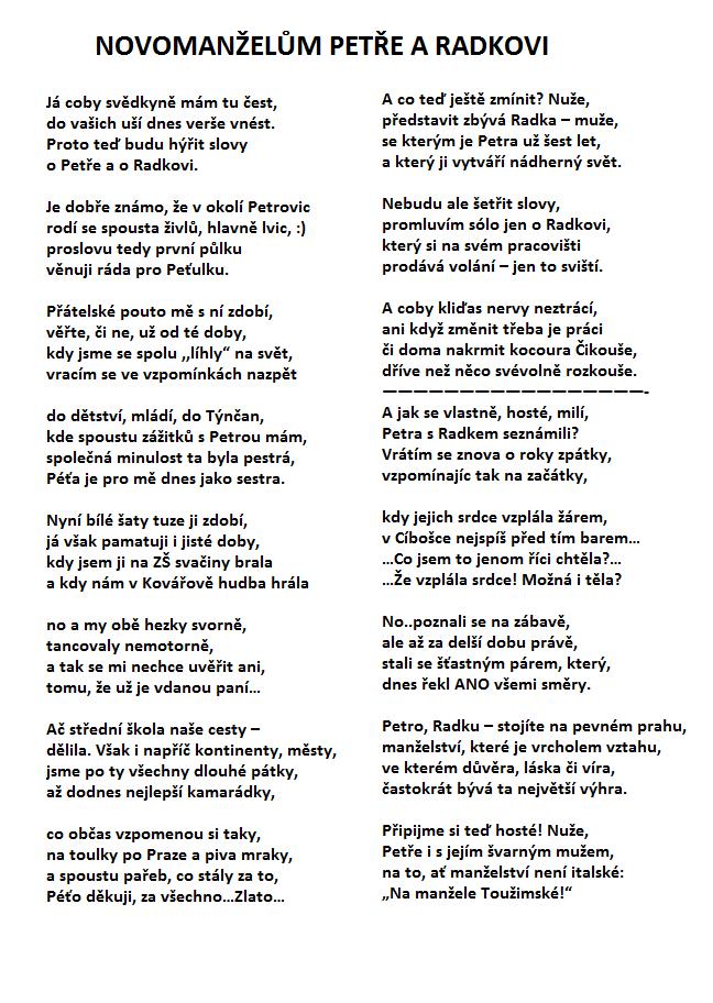 proslov k narozeninám vzor Ukázky naší práce   básně, které jsme pro Vás vytvořili proslov k narozeninám vzor